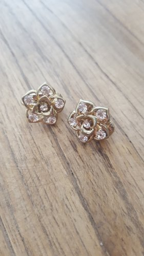 Earclip gold-colored-pink