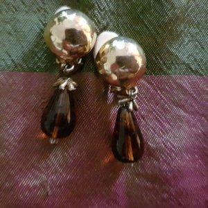 Clip d'oreille doré-brun sable métal