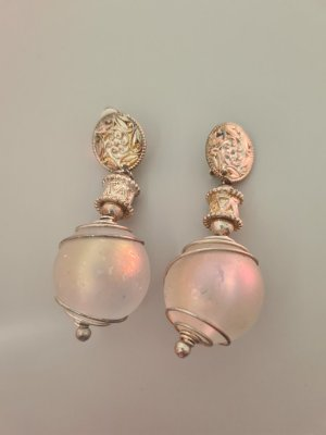 Vintage Earclip silver-colored