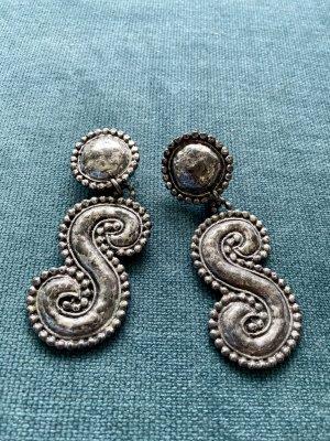 Zdobione kolczyki srebrny