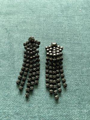 Zdobione kolczyki czarny