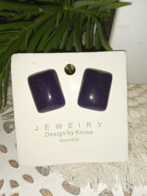 Pendientes de clip violeta amarronado