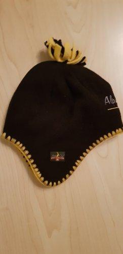 alpine Lapland Hat black-yellow