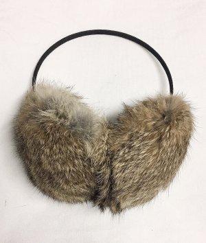 Ohrenwärmer aus Kaninchenfell. NEU!