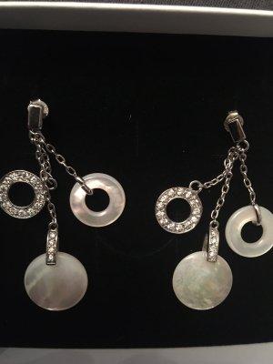 Pendientes de plata color plata