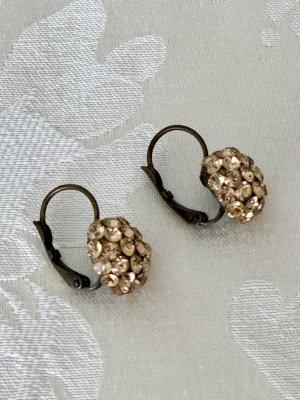 Ohrhänger in Altgold