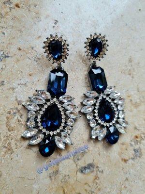 Ohrhänger mit blauen Steinen im Vintage Look