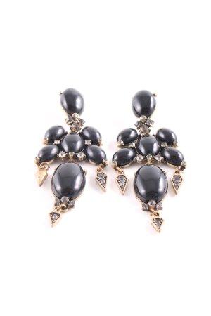 Bungeloorbellen zwart-goud elegant