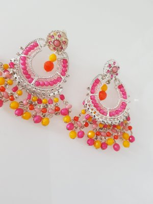 Oorclips geel-roze