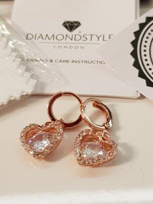 Diamond Line Bungeloorbellen roségoud