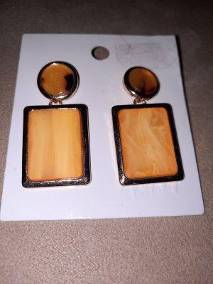 H&M Cache-oreilles jaune fluo-orange clair métal