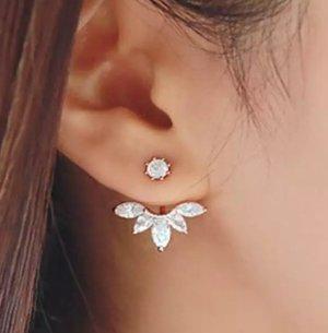 Ohrring Damen Blogger Boho korean Style wie Zara Silber Farbe