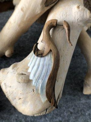 Handmade Zarcillo multicolor madera