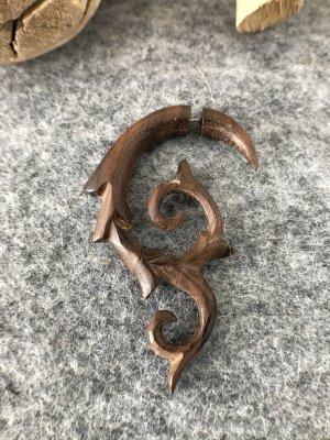 Handmade Zarcillo marrón madera