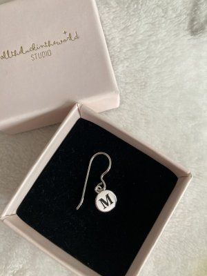 Alltheluckintheworld Silver Earrings silver-colored-black