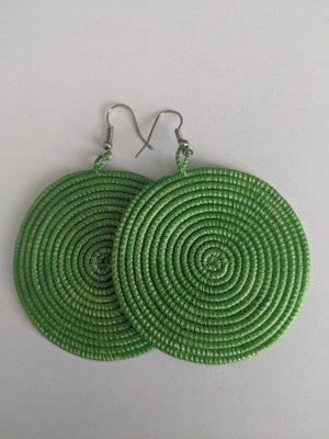 Bungeloorbellen zilver-groen