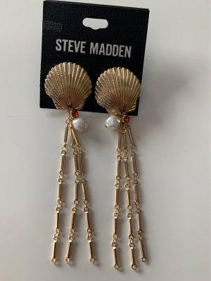 Steve Madden Ear stud gold-colored-white