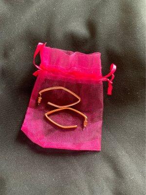 Unbekannte Marke Pendientes tipo aro rosa