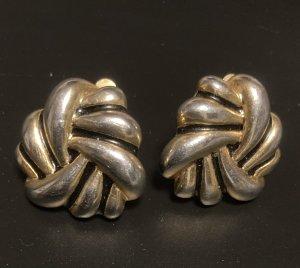Orecchino a clip argento-oro