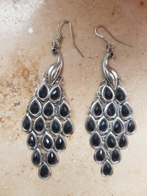 Dangle black-silver-colored
