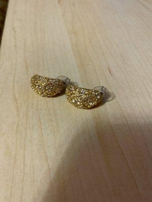 Ear Hoops gold orange