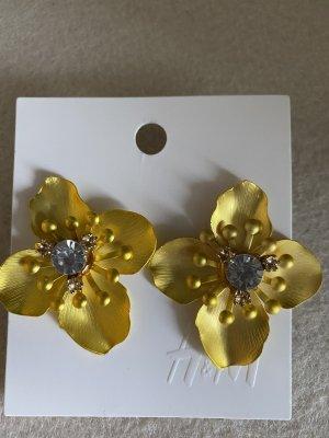 H&M Bungeloorbellen geel-wit