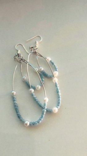 Keine Marke Pearl Earring cornflower blue-white