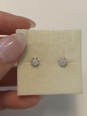 Diamant Złote kolczyki biały
