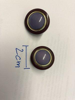 Pendientes de clip violeta grisáceo-violeta oscuro