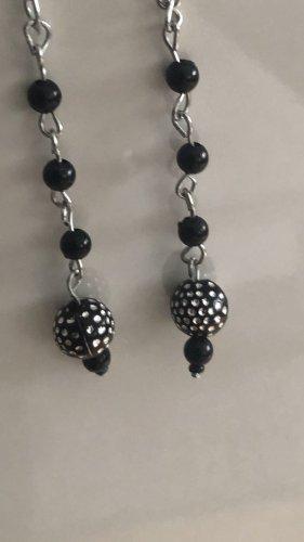 keine Pendientes de perlas negro