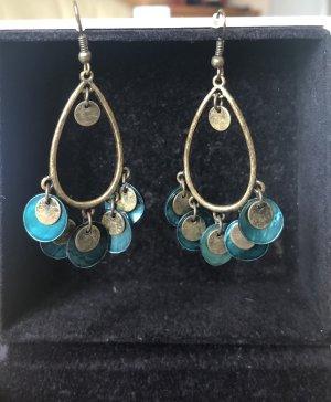Accessoires Pendientes colgante petróleo-color bronce
