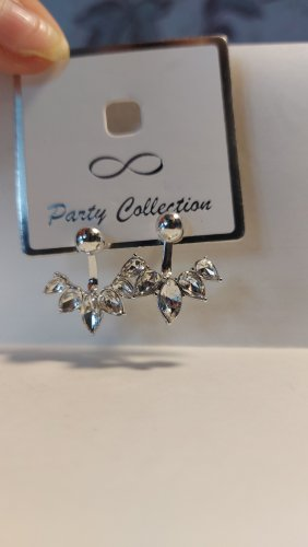 Unbekannter designer Silver Earrings silver-colored