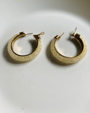 Boucles d'oreille en or crème-doré