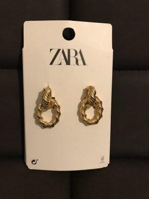 Zara Boucles d'oreille en or bronze