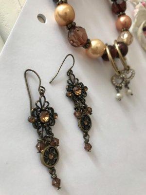 Accessorize Pendientes colgante color bronce-marrón