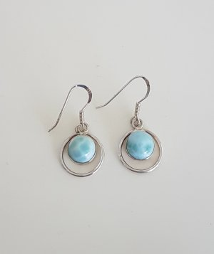 Silver Earrings silver-colored-turquoise