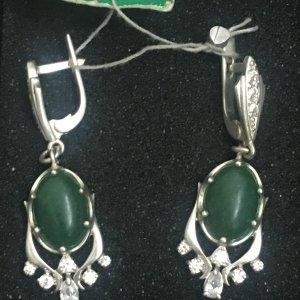 Ohrringe 925er Silber mit Nephrit NEU