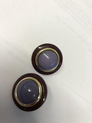 Clip d'oreille gris violet-violet foncé
