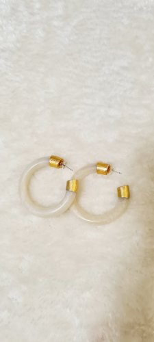 no name Ear Hoops gold-colored-oatmeal
