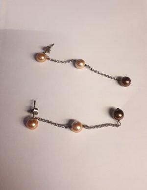 """Ohrringe ähnl. Misaki (passend zu der Halskette """"Orchidee"""" in silber mit Perlen, QCRPORCHIDEE)"""