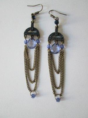 Bijou Brigitte Pendant d'oreille bronze-bleu