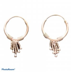 Boucles d'oreilles en argent argenté