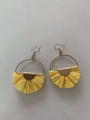 Statement Earrings gold-colored-yellow