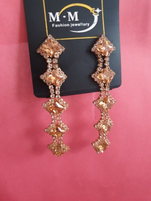 Boucles d'oreilles en perles or rose