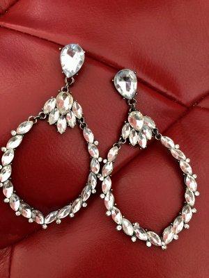 Badgley Mischka Ear stud silver-colored-white