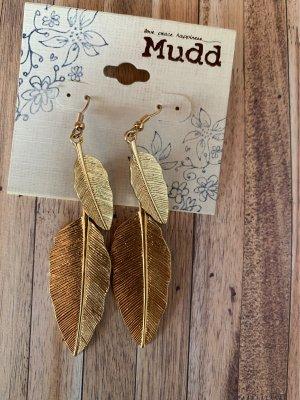 Ohrringe blatt leaf von mudd