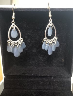 Accessoires Wiszące kolczyki srebrny-baby blue