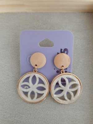 Claires Statement Earrings natural white-white