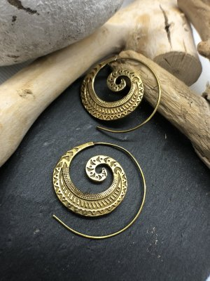 Handmade Ear Hoops gold-colored