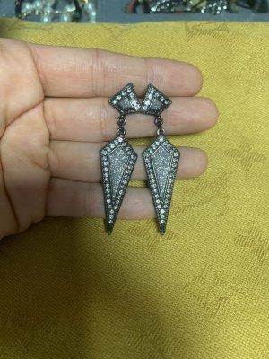 Dangle anthracite-silver-colored